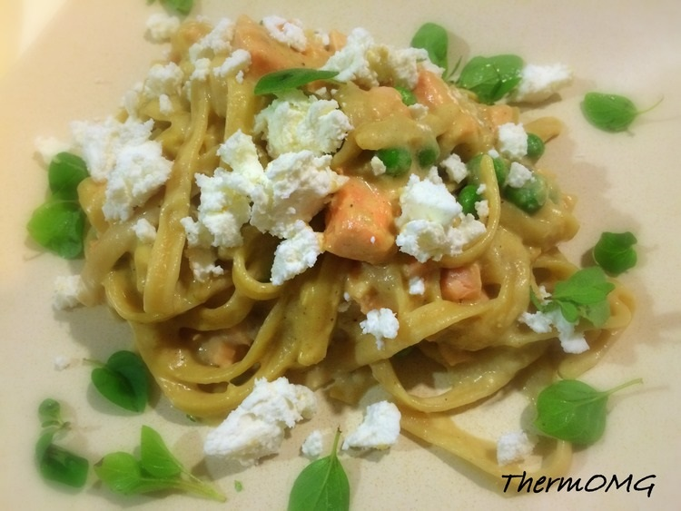 Salmon and Feta Pasta