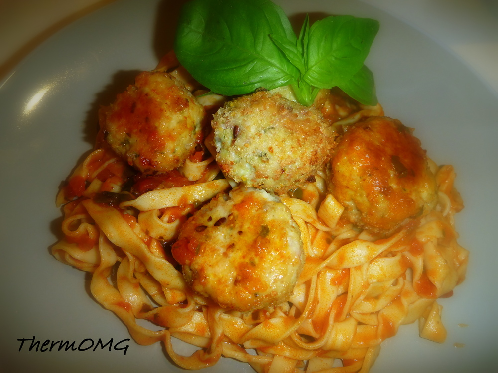 Chicken and Bacon Meatball Pasta