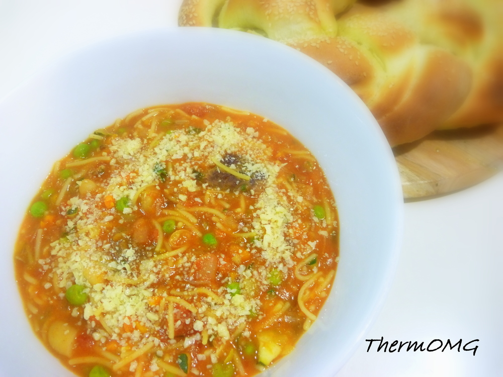 White Bean and Vegetable Pasta Soup