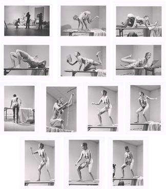 Carolee Schneemann, Interior Scroll, 1975, 13 gelatin silver prints on fiber paper, each 11x14 in. (28 x 35.5 cm)