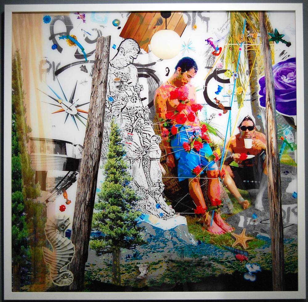 "CARLOS BETANCOURT (b. 1966) ""San Sebastian, Graffiti and the Puerto Rican Countryside"" 2011 C-print 63 x 64 inches Edition 1 of 2"