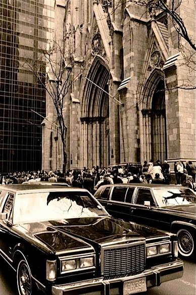 "CHRISTOPHE VON HOHENBERG ""St. Patrick's Cathedral"" 1987 Paper printed on silver metallic 40 x 60 in AP 3/3     — at   Edelman Arts  ."