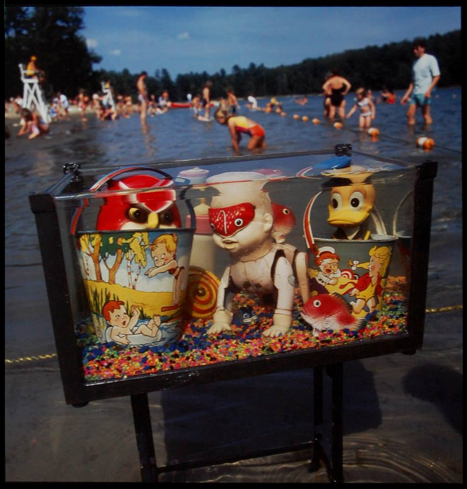 "ARTHUR TRESS (b. 1940) ""Learning to Swim"" 1989 Cibachrome print 16 x 20 inches Ed. 7/50"