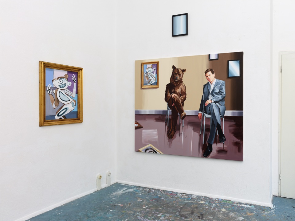 Studio Installation View of Time Dimensionality (and the 1911 Cubist Monkey), 2014