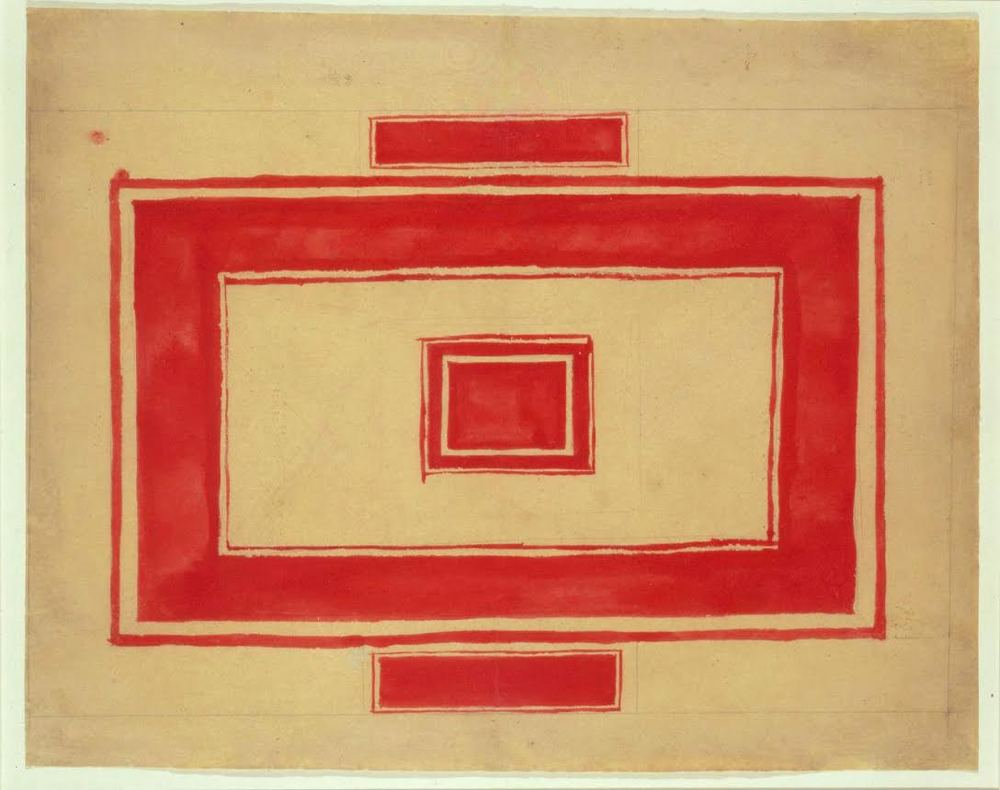 Red Rectangle (design for the ceiling of the Théâtre Rouge)