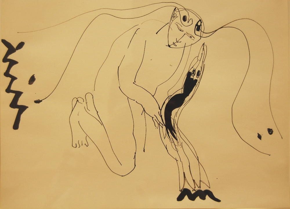 Paladino - Untitled 1980 Ink on paper.JPG