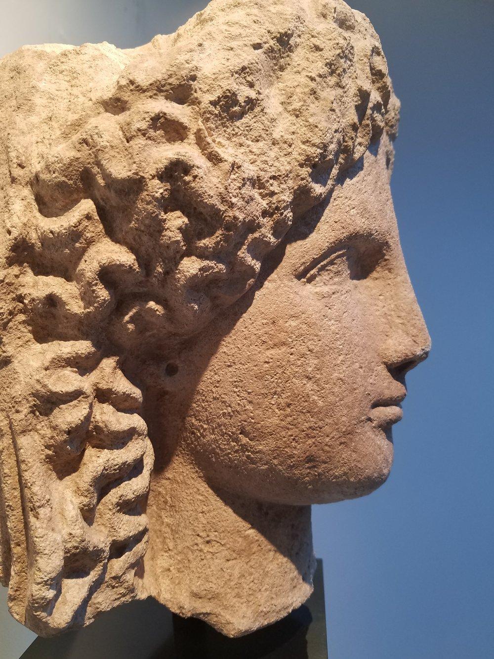 Cyprus, Ca. 5th Century BC  Limestone  10 X 10 X 19in (26 X 26 X 50)