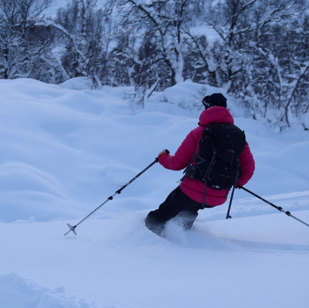 Snøen var løs og fin med fantastisk pudder!