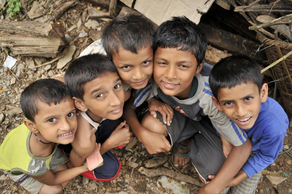 Kids on trek Nepal
