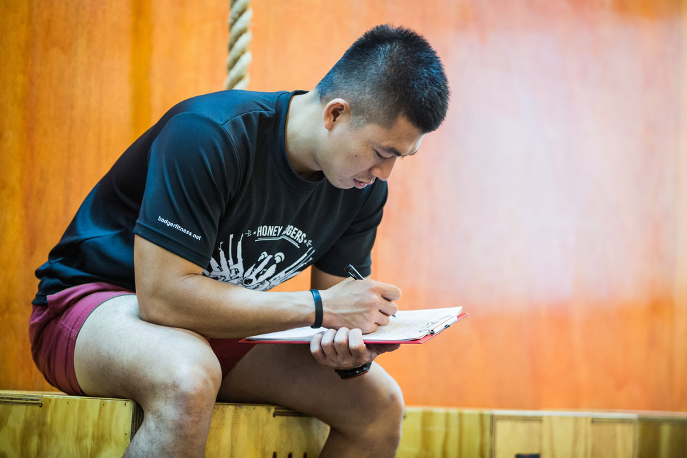 Kelvin Yeoh, Senior Coach at HBCF busy with the details of an Assessment Session.
