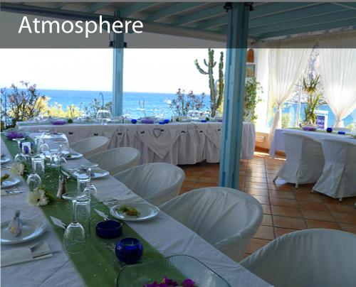 beach view in kamari -Receptions.