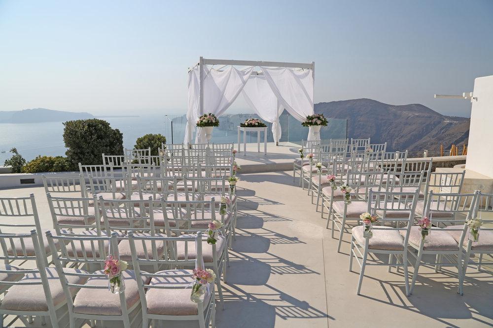 Rocabella -Caldera view ceremonies, receptions