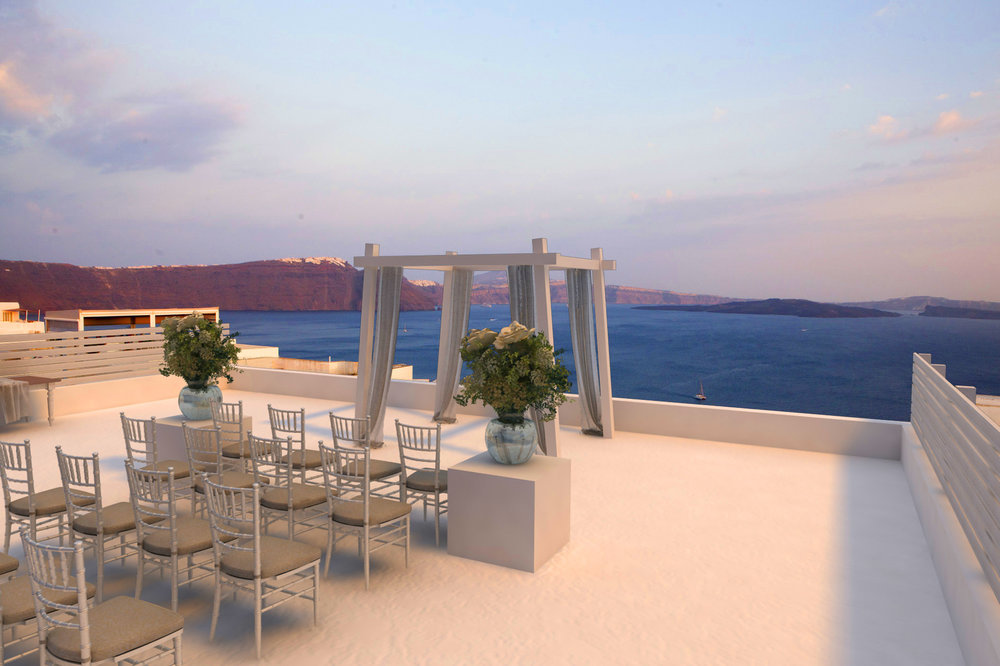 Caldera View - Ceremonies. Receptions cave hotel accommodation