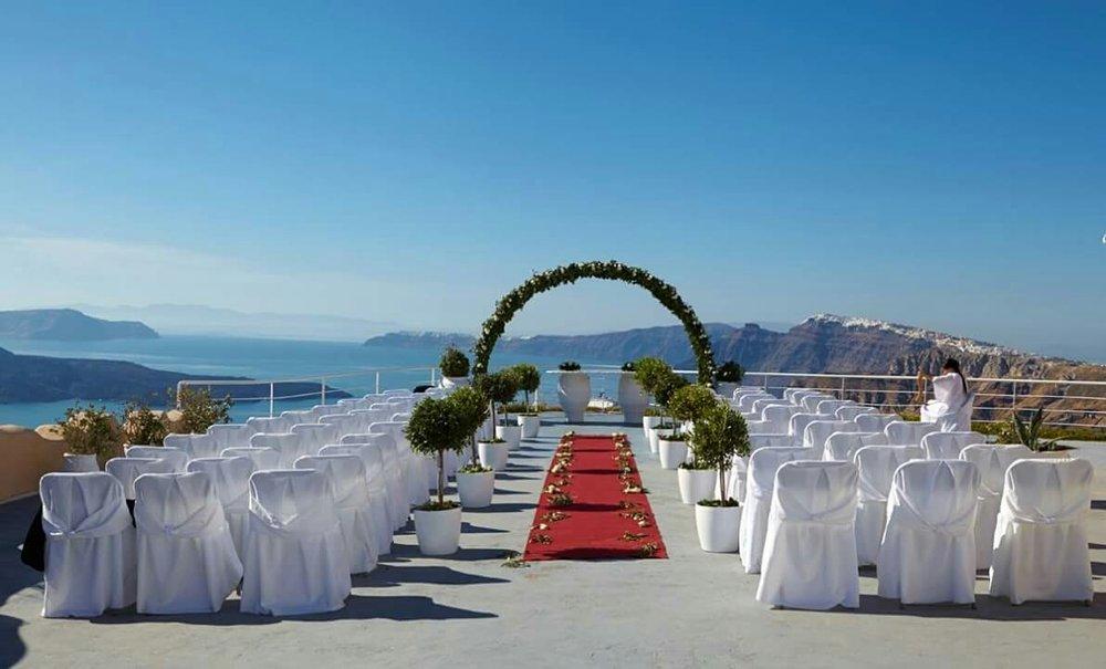 Caldera View, Ceremony, reception, Hotel