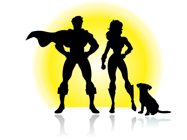 super hero couple K9 shadow copy.jpg