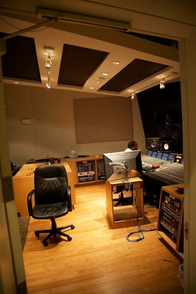 Custom sound studio paneling and cabinets.