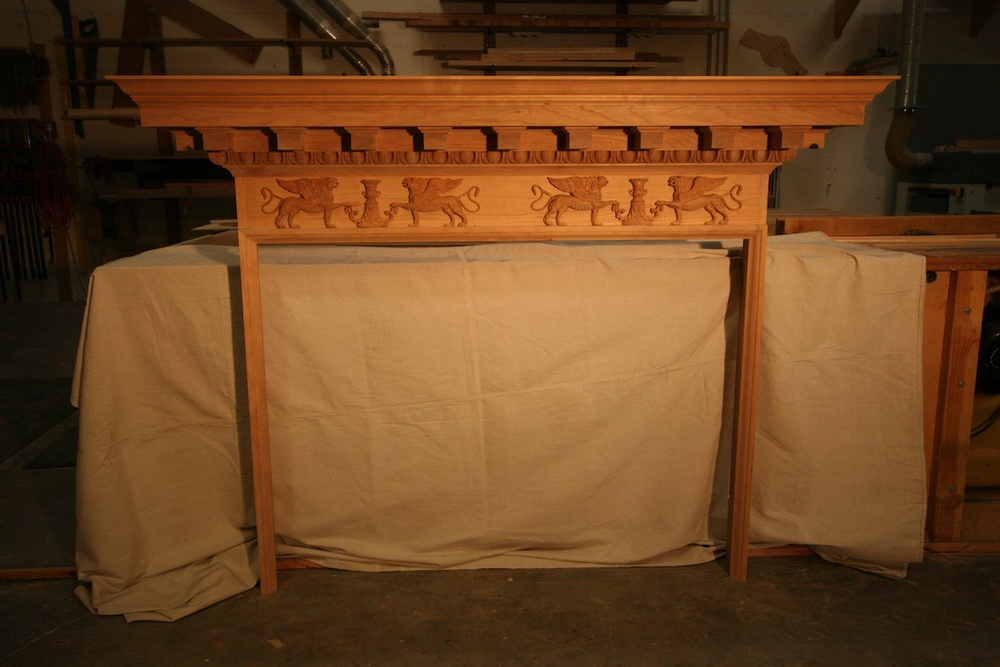Mahogany Empire Style Fireplace