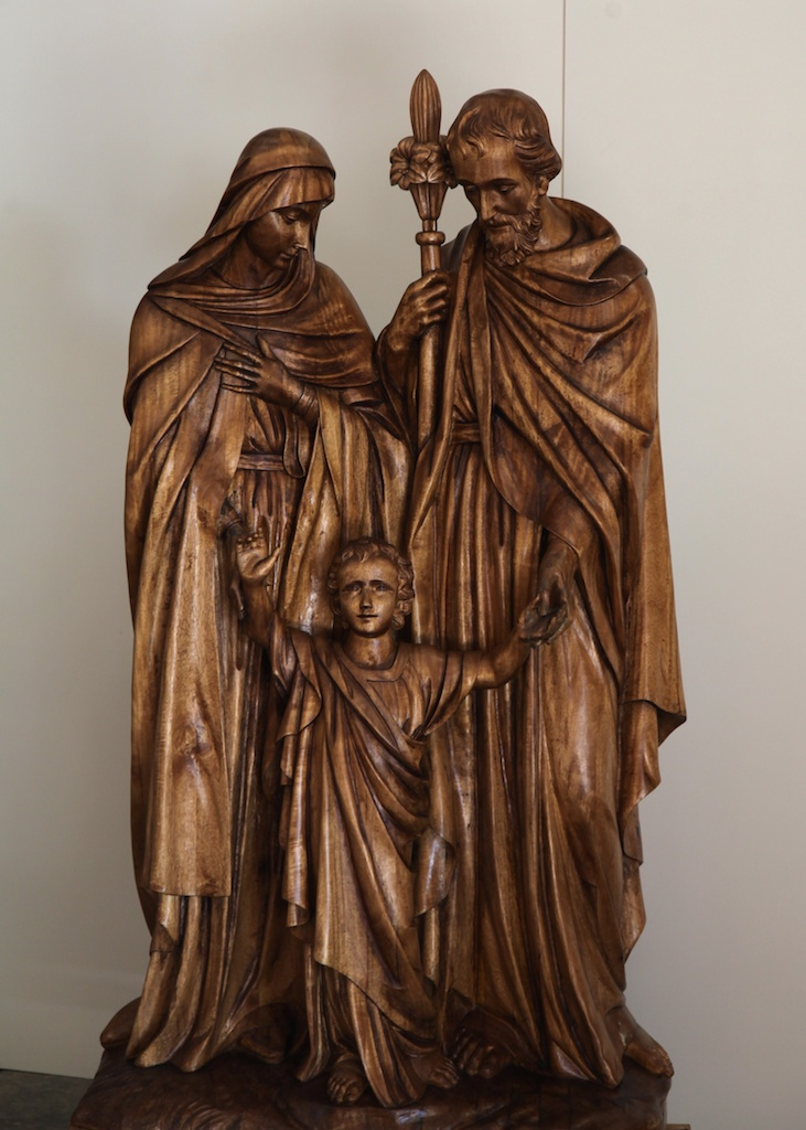 This statue, completed by Agrell carving, was sent to us for antique shading and hand-rubbed finishing.