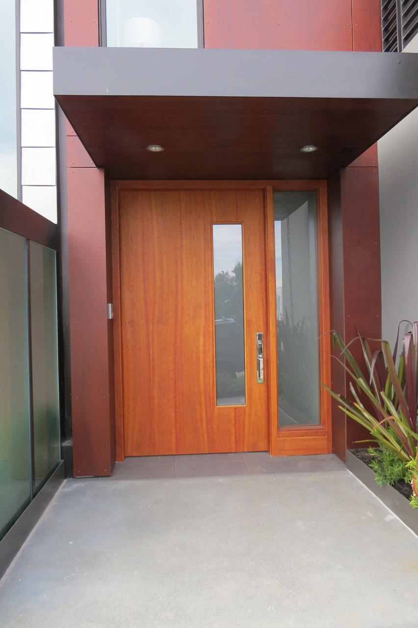 Cherry Entry Door