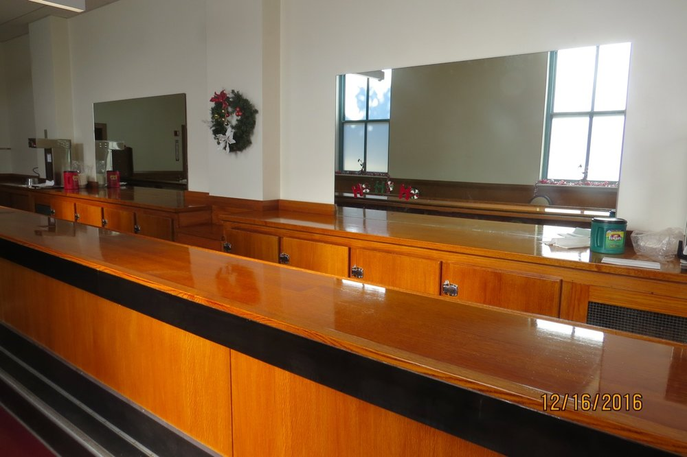 New White Oak bar top and paneling.