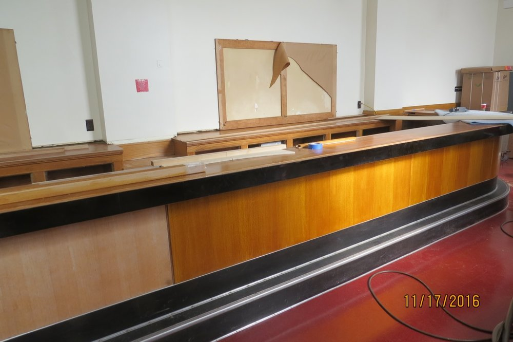 Restoring a bar from the 1970's.