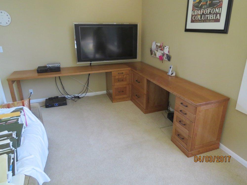 Custom Cherry desk.