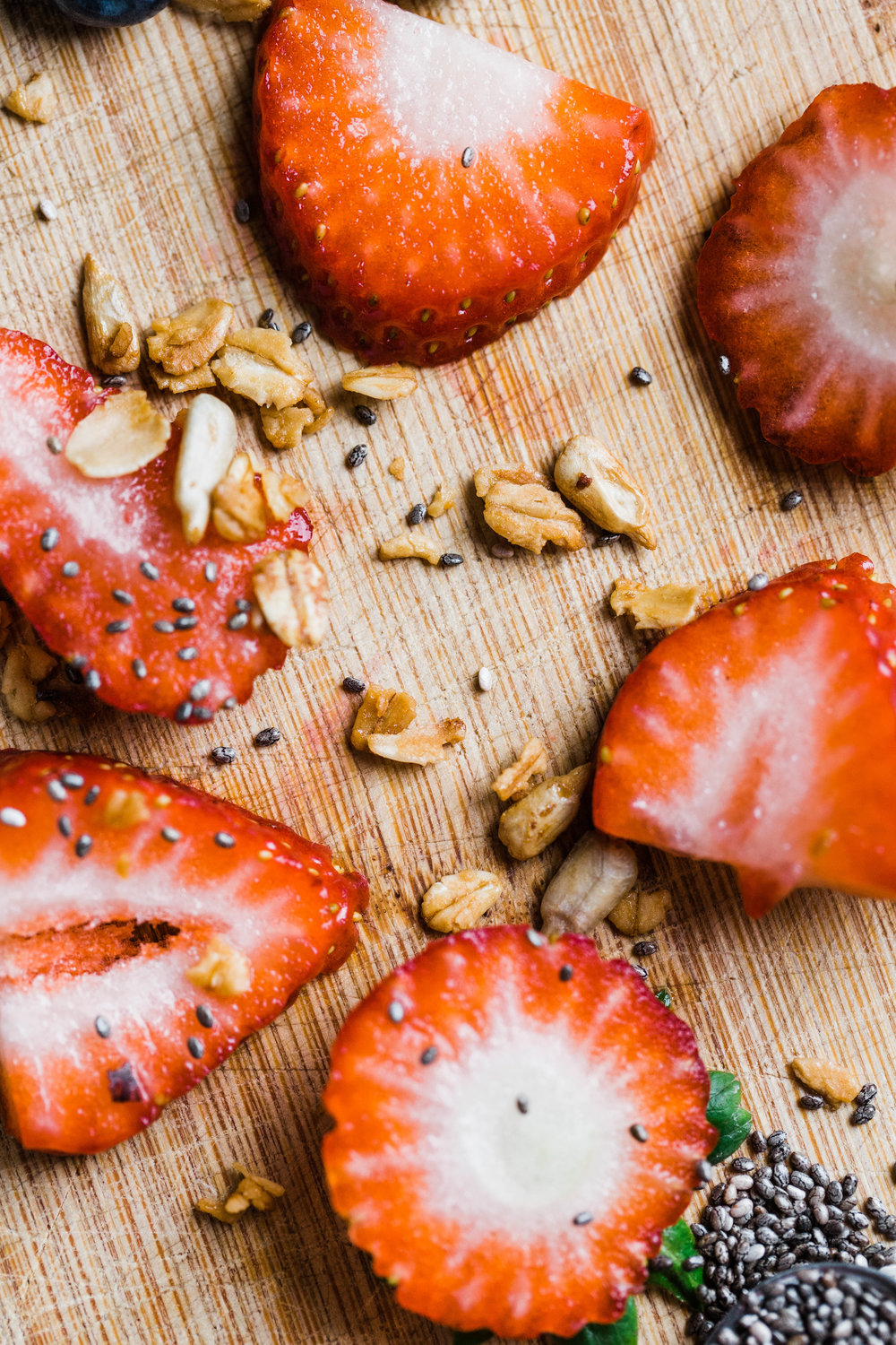 Strawberries with Granola