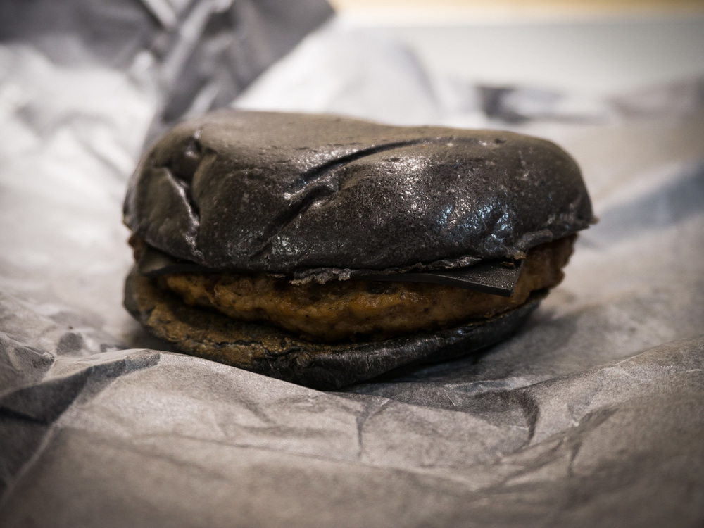 the beautiful dark brown Burger King Black Burger