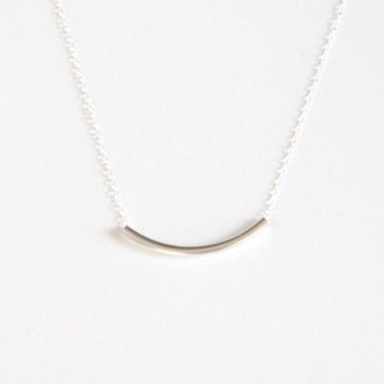 a31ada32612199 Estelle Sterling Silver Bar Necklace | Silver Necklaces | Junghwa