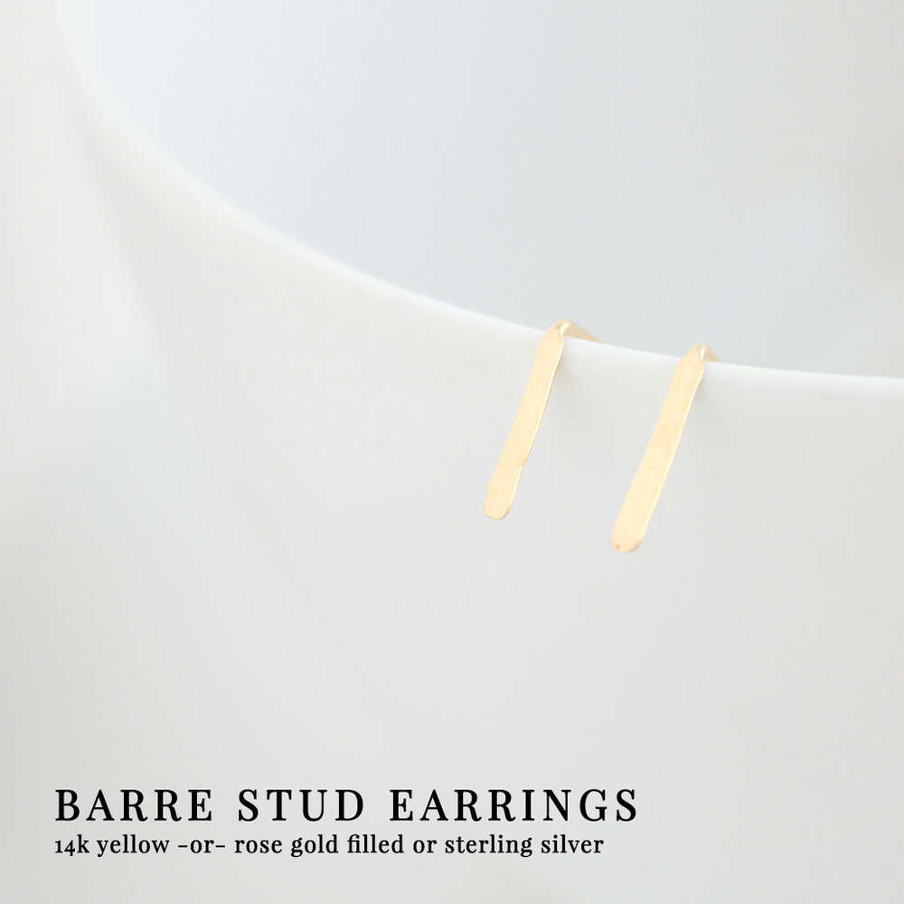 Junghwa Barre Stud Earrings