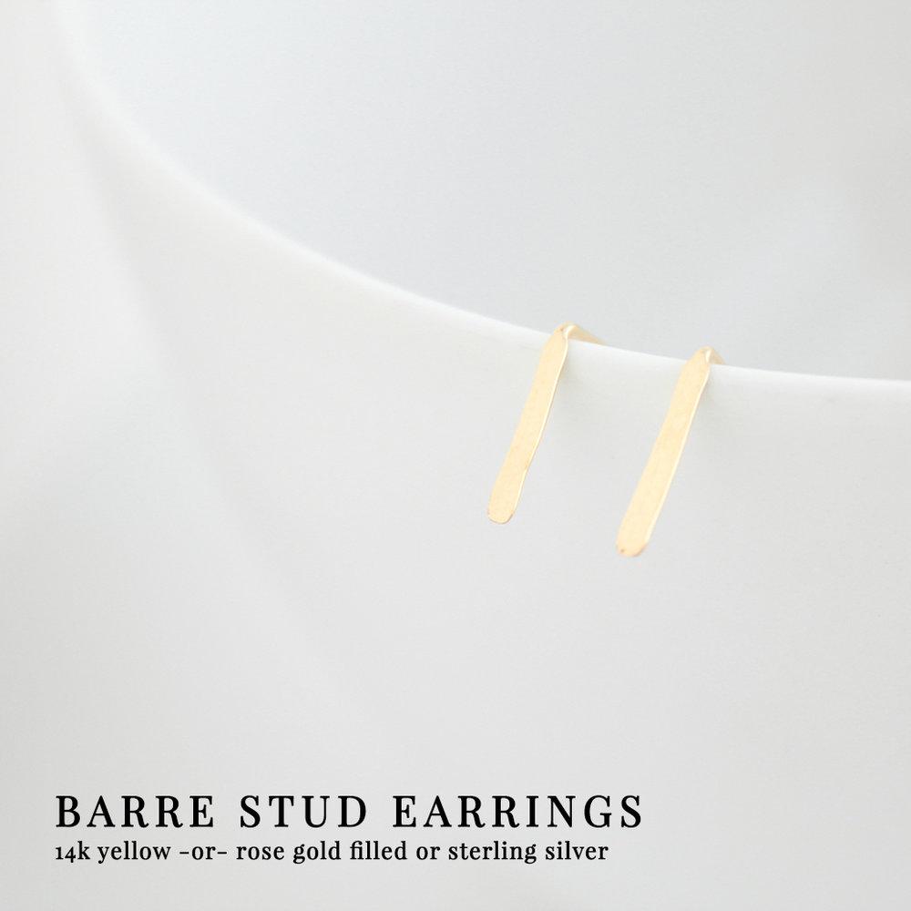Junghwa Barre Stud Earrings