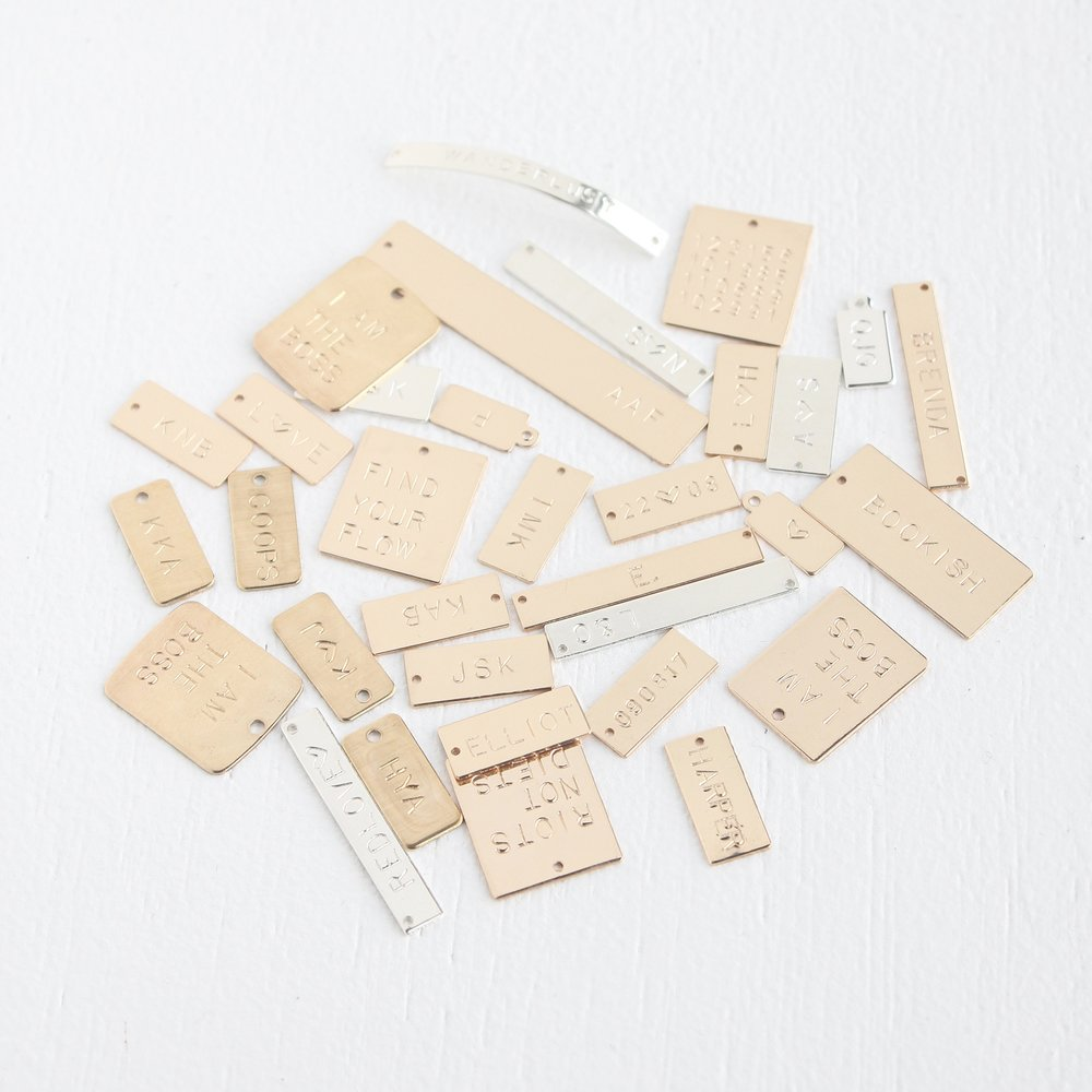 Junghwa by Amy Stewart - hand stamped tags