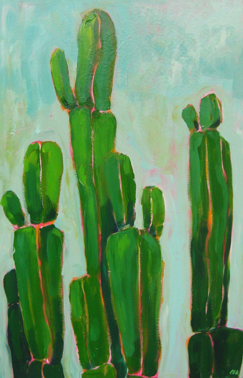 Sun Salutations - acrylic on canvas 36x24