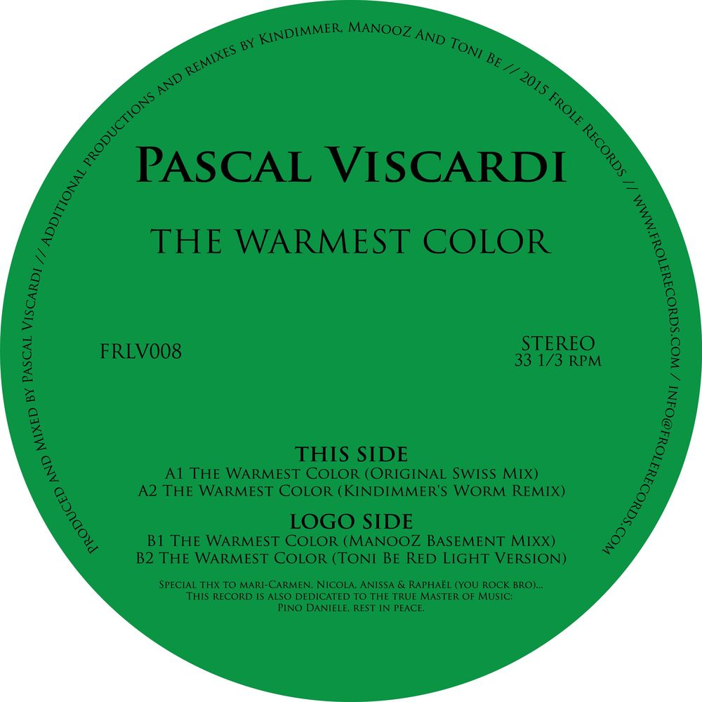 Pascal Viscardi - The Warmest Color [FRLV008]