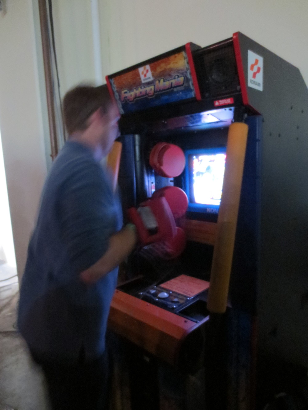 Brandon kicking butt in Fighting Mania