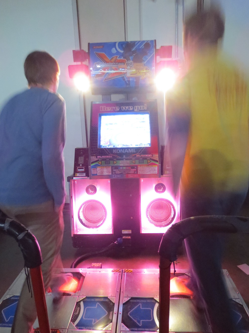 Andrew and I relive our old days as DDR All-Stars