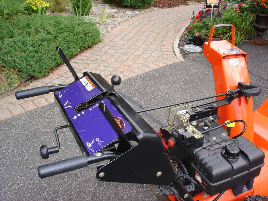 Late-1990s Ariens ST824 #9240550 - Dash with Blue Decal
