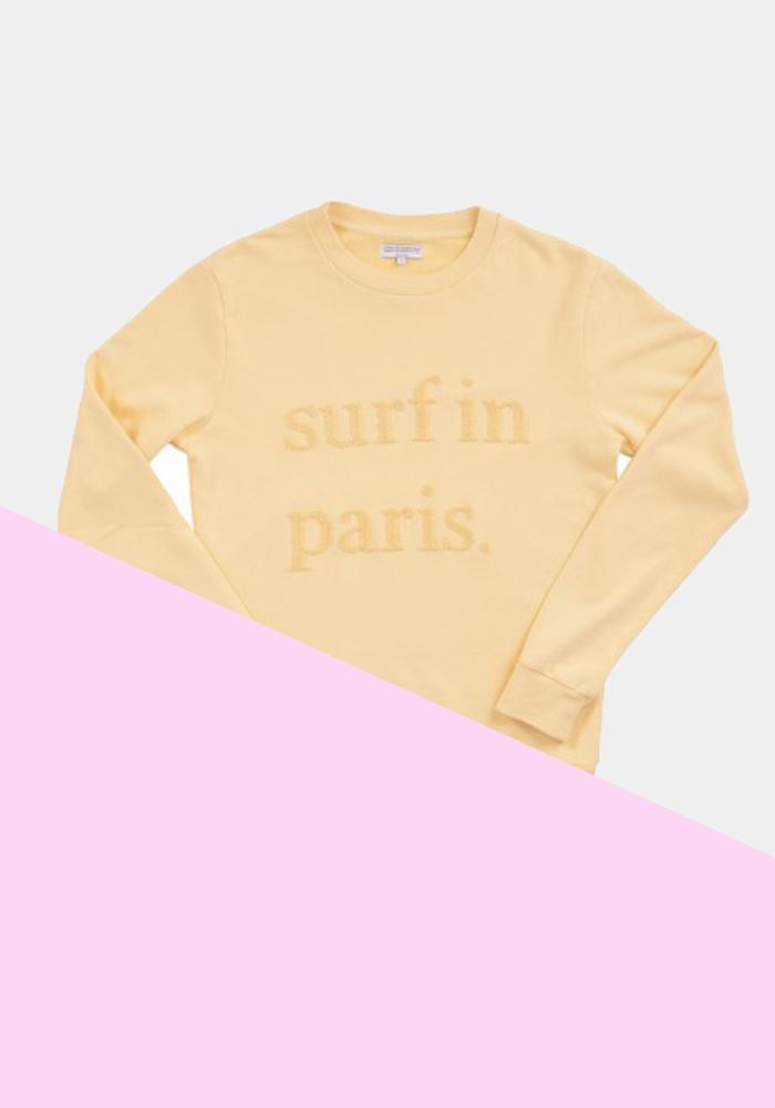 Cuisse-de-Grenouille-Surf-Paris-Yellow-Sweatshirt