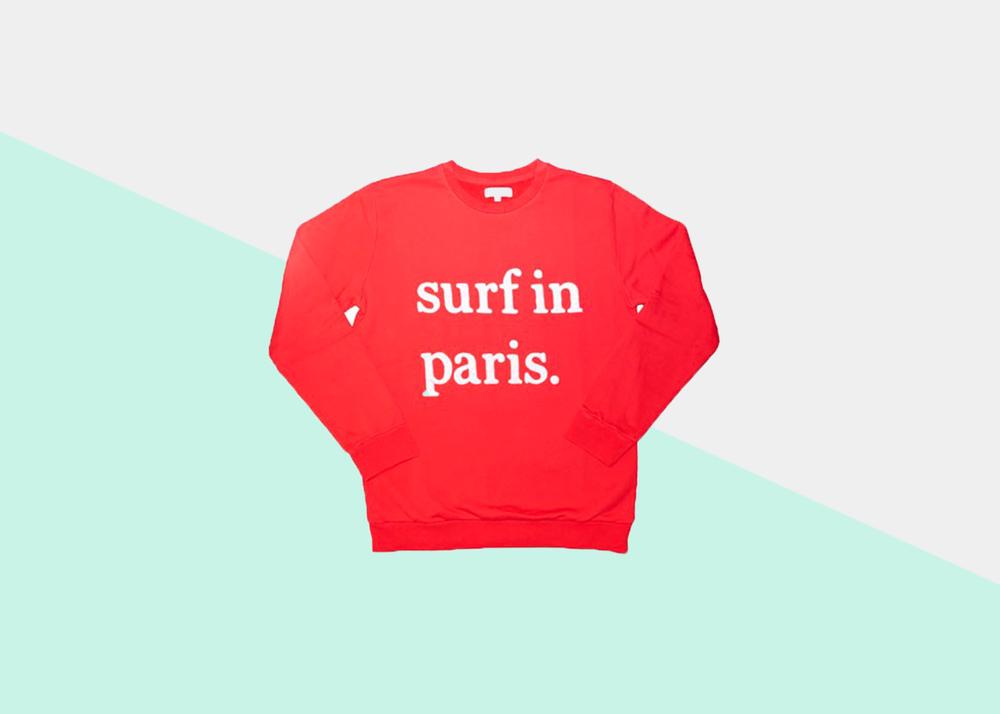 Cuisse-de-Grenouille-Surf-Paris-Red-Sweatshirt
