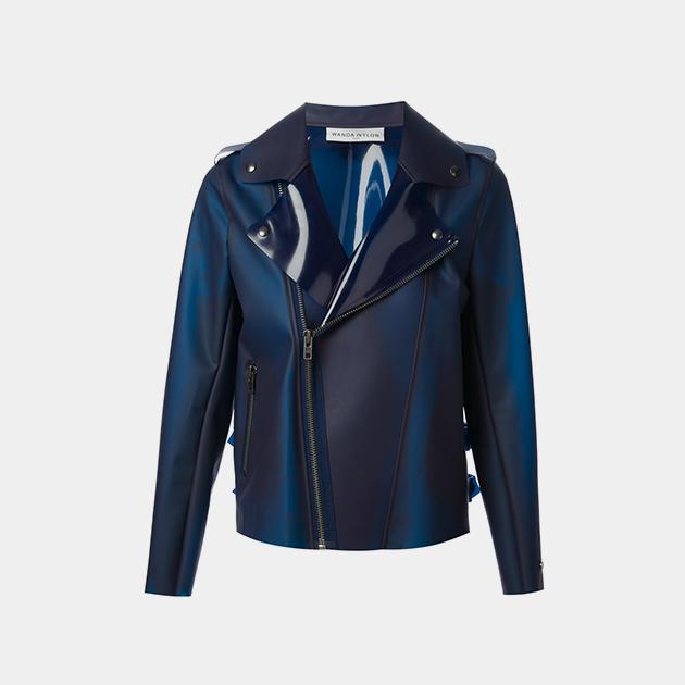 Wanda-Nylon-Blue-Moto-Jacket