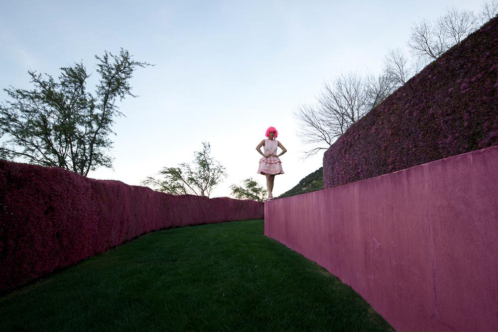 cynthia-mittweg-pink-hair-pink-simone-rocha-jbrand-dress