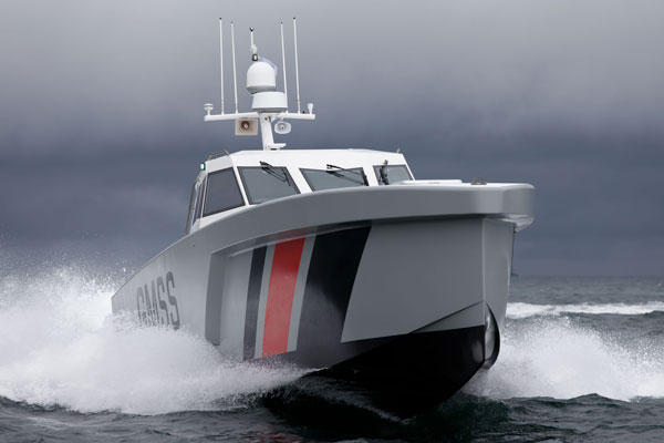 17-meter long patrol range vessel created with Arovex®