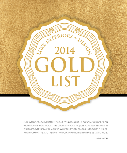 Luxe Magazine 2014 Gold List Honoree January Maven Interiors