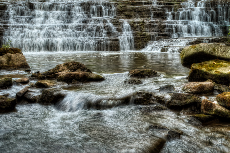 The Darnley Cascade waterfall just outside of the mill, located just outside of Hamilton Ontario