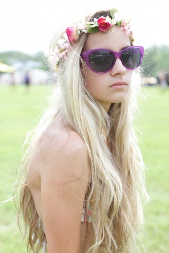 Flower Crown + Beachy Waves