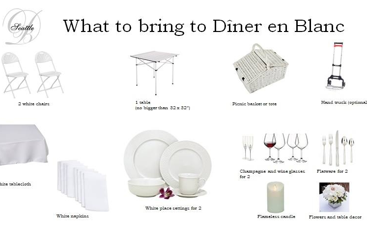 What to bring [photo: Le Dîner en Blanc Seattle]