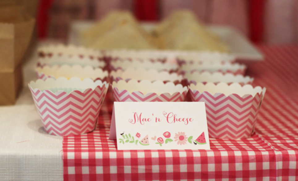 Food signs in the picnic theme #TheCharmStudio photo credit: The Wise Baby