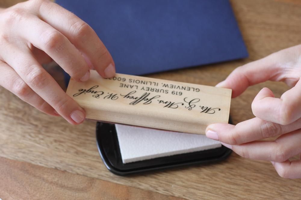 Custom designed wedding invitations by The Charm Studio