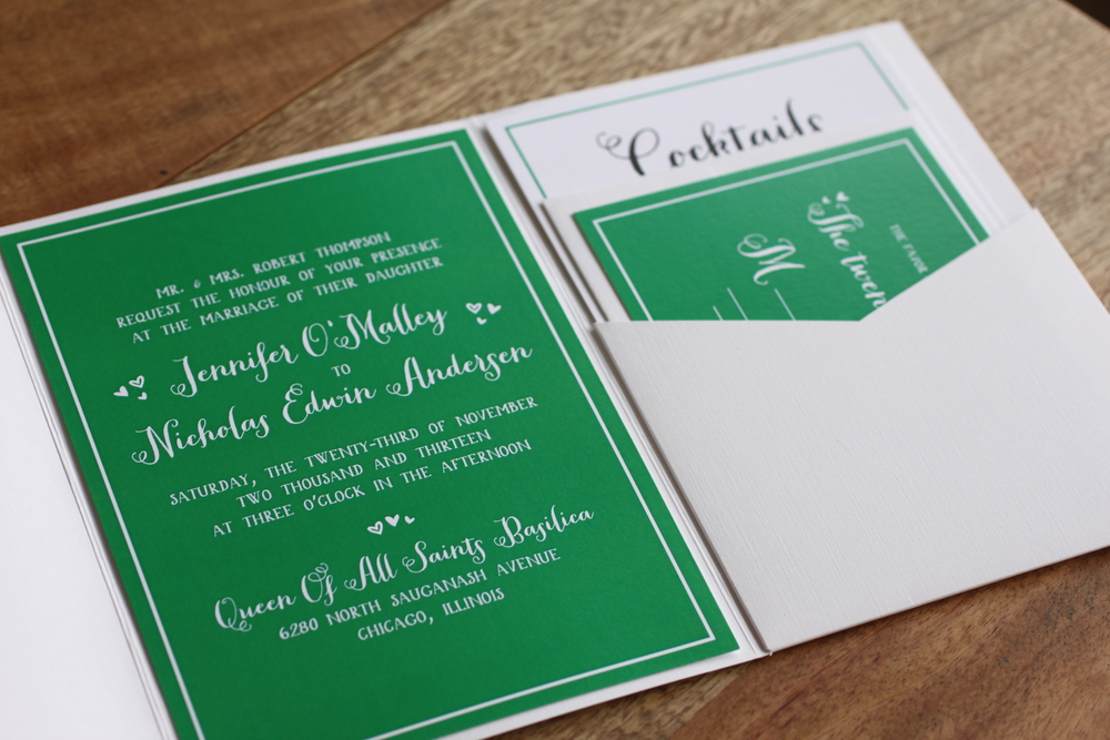 Custom designed wedding invitations by The Charm Studio