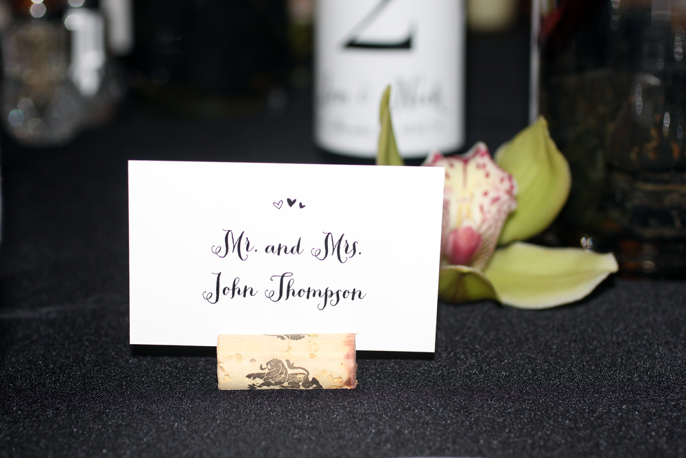 Escort cards & Place cards with corks!